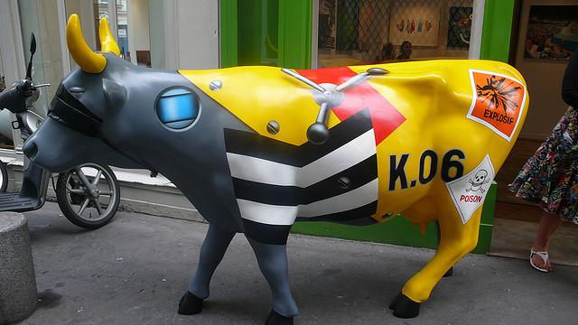 Klasen Cow by Featured Artist Peter Klasen | ©Raphaël Labbé/Flickr
