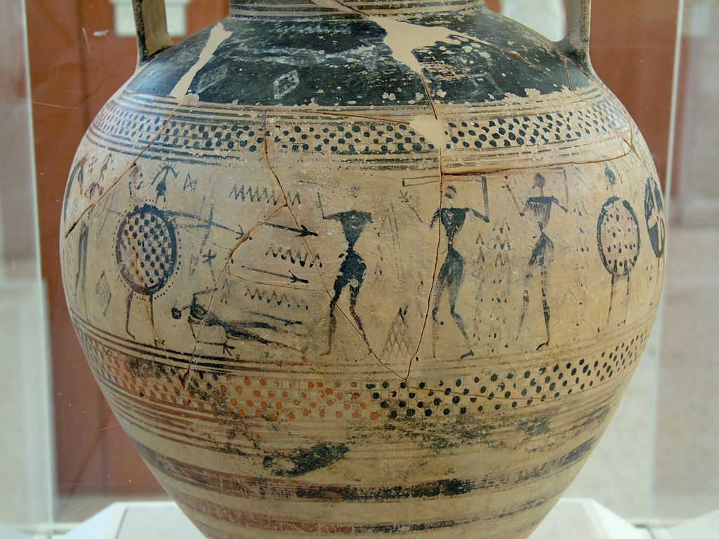 Amphora of the Geometric period. Archaeological museum of Paros © Zde/WikiCommons