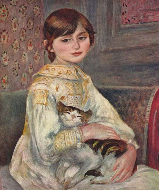 Child With Cat, Pierre-Auguste Renoir