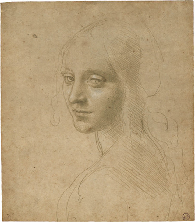 Leonardo da Vinci, Head of a Young Woman, after 1483 | © Leonardo da Vinci/WikiCommons