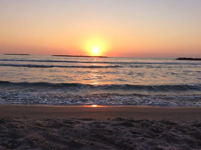 A beautiful sunset in Tel Aviv, courtesy of Sharon Brand