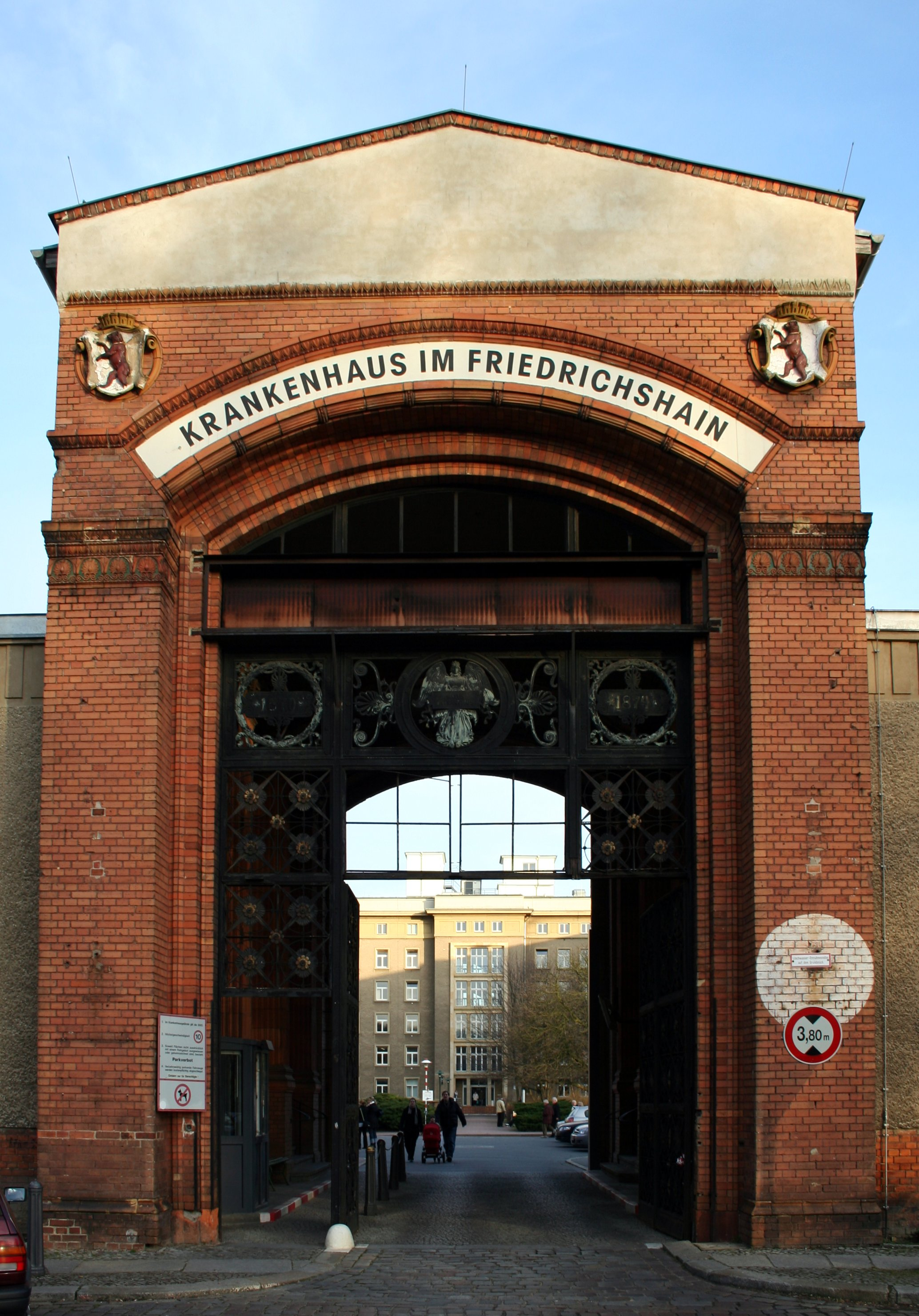 Gate to the hospital built around 1870 | © Maria Krüger/WikiCommons