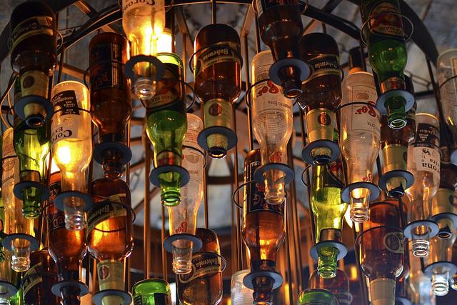 Beer Bottle Chandelier | ©Daniel Dudek-Corrigan/Flickr