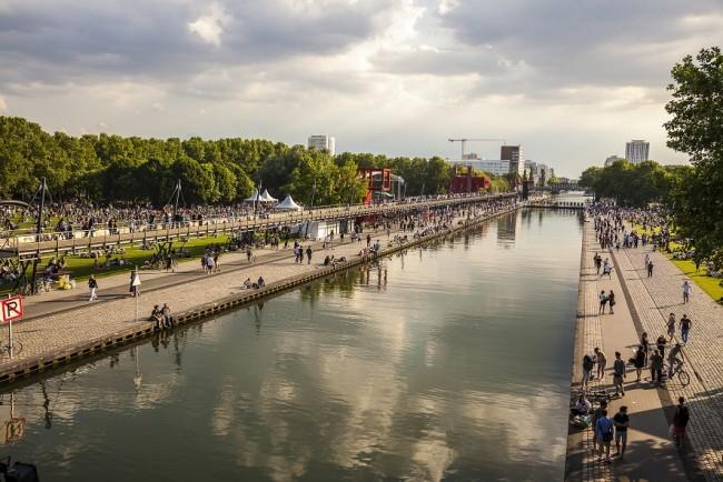 Le Parc de la Villette et le Canal de l'Ourcq   Courtesy of La Villette, © Philippe Lévy