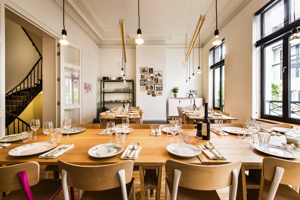 The dining area of Les Filles Plaisirs Culinaires | Courtesy of Les Filles Plaisirs Culinaires