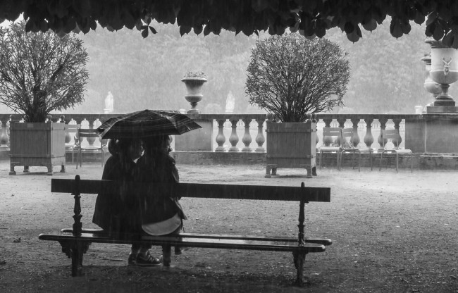 Under the rain in the Luxembourg Gardens | © Vincent Anderlucci/Flickr