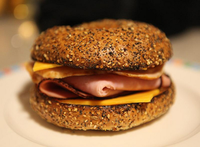 Toasted Everything Bagel Sandwich | ©Michael Dorausch/Flickr