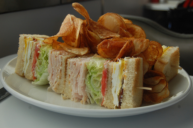 Turkey Club Sandwich | ©stu_spivack/Flickr