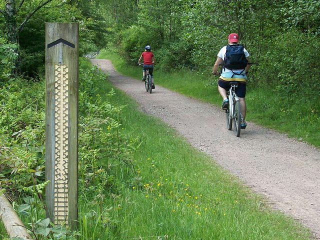 Following a bike trail| © Obscurasky/WikiCommons