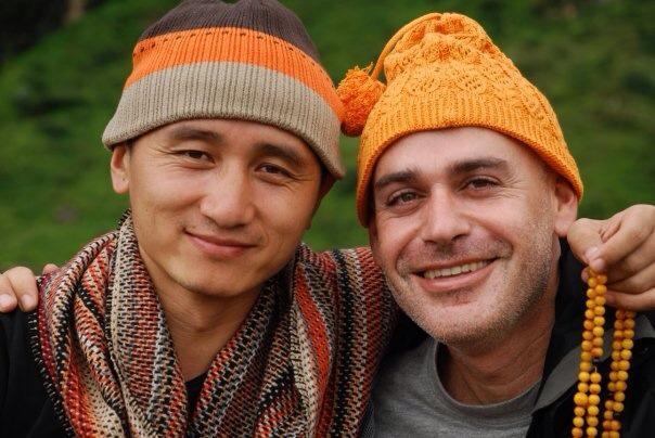Tenzin Zopa and Nati Barati | © Nati Baratz's Facebook