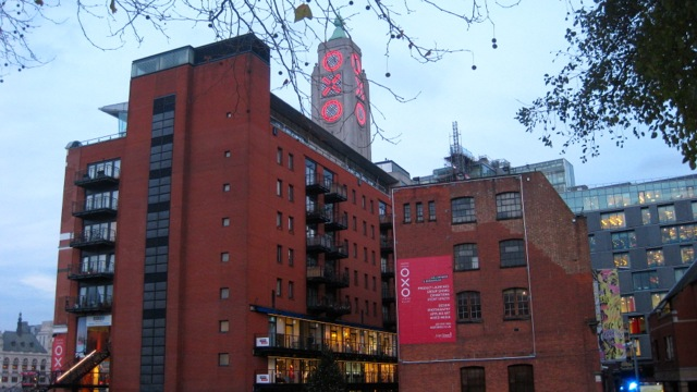 View Towards Oxo Tower Wharf From Gardens At Dusk   Courtesy of Kate Jefford