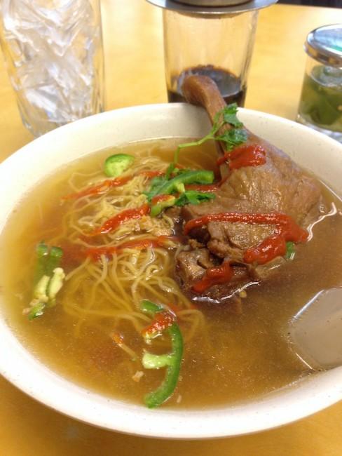 Braised Duck Leg Egg Noodle Soup, Hai Ky Mi Gai   © Ryan Basso