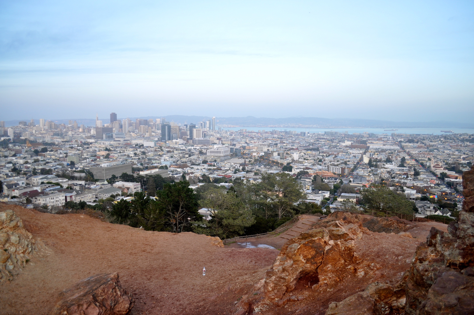 View from the top of the Corona Heights summit | © Julia Middlemiss