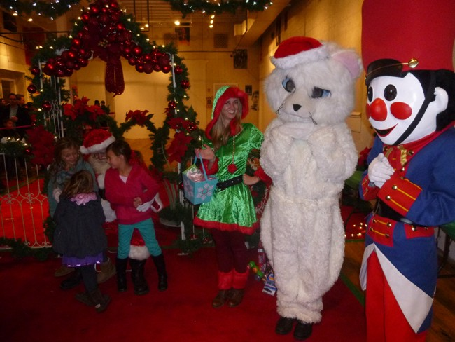 All sorts of Christmas characters came out to entertain kids during the Union Street Holiday Fantasy of Lights celebration on Dec. 5. Photo courtesy of Steven Restivo Productions