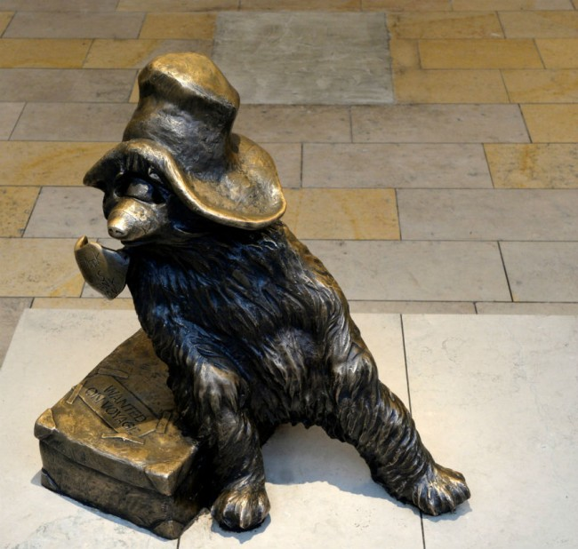 The Paddington Bear Statue   PADDINGTON BEAR™ © Paddington and Company Ltd 2015 / From the Paddington Bear Books by Michael Bond Illustrated by Peggy Fortnum
