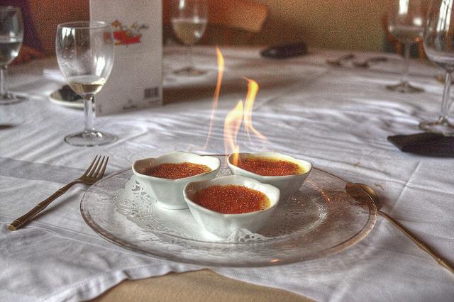 Flaming Crème Brulee | ©Ewan Cross/Flickr