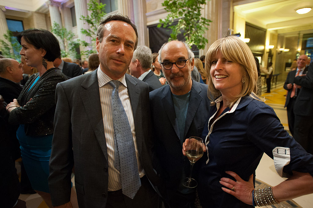 Rachel Johnson with Lionel Barber and Alan Yentob at the Financial Times Summer Party, 2014 | © Financial Times/WikiCommons