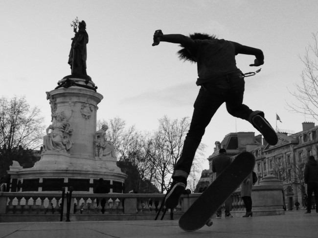 Skaters at République | © Bonne Basile/Flickr