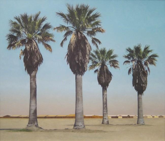 Robert Bechtle, Four Palm Trees, 1969 | © Sharon Molleris/flickr