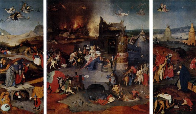 Triptych of the Temptation of St Anthony, Hieronymous Bosch