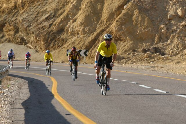 Uphill for part of the 180 km bike ride Israman competition Eilat mountains   Courtesy of Israel Ministry of Tourism