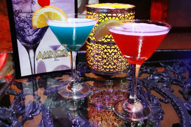 Martinis | Courtesy of Ambrosia Martini Lounge