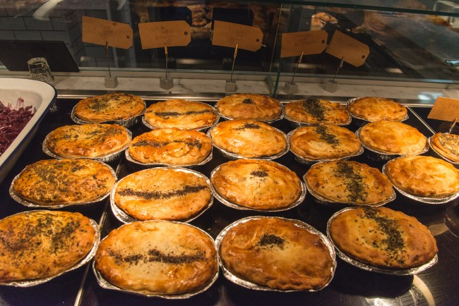 Rows of Pies | Courtesy of Battersea Pie Station