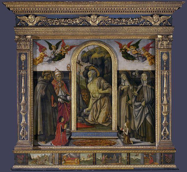 Francesco Botticini San Girolamo penitente nel deserto tra san Damasio | © Eugene a / WikiCommons