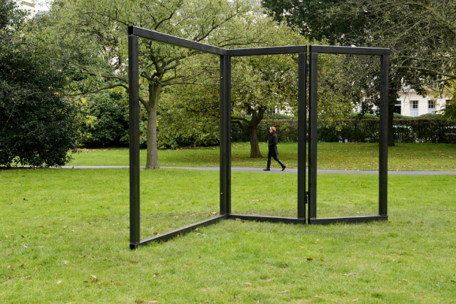 Sculpture by Carol Bove | Courtesy of Frieze Sculpture Park © David Zwirner