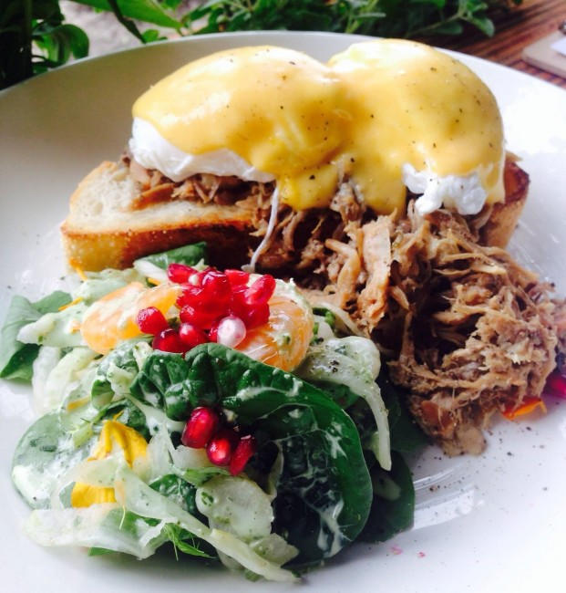 Pulled Pork Eggs Benedict l Courtesy of John Smith Cafe