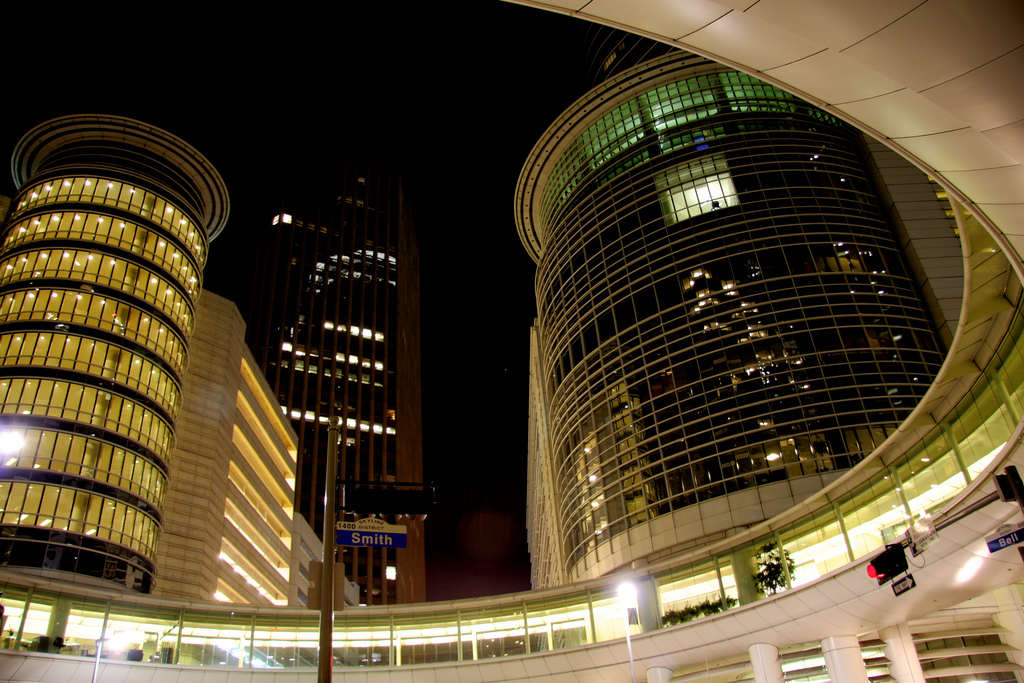 Enron Complex in Downtown Houston | © Alex/Flickr