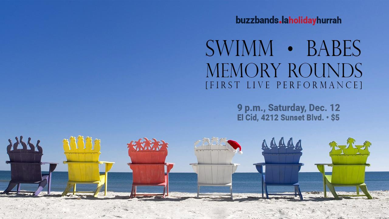 BUZZBANDS.LA Holiday Hurrah with SWIMM, BABES and MEMORY ROUNDS | © BuzzBands.LA