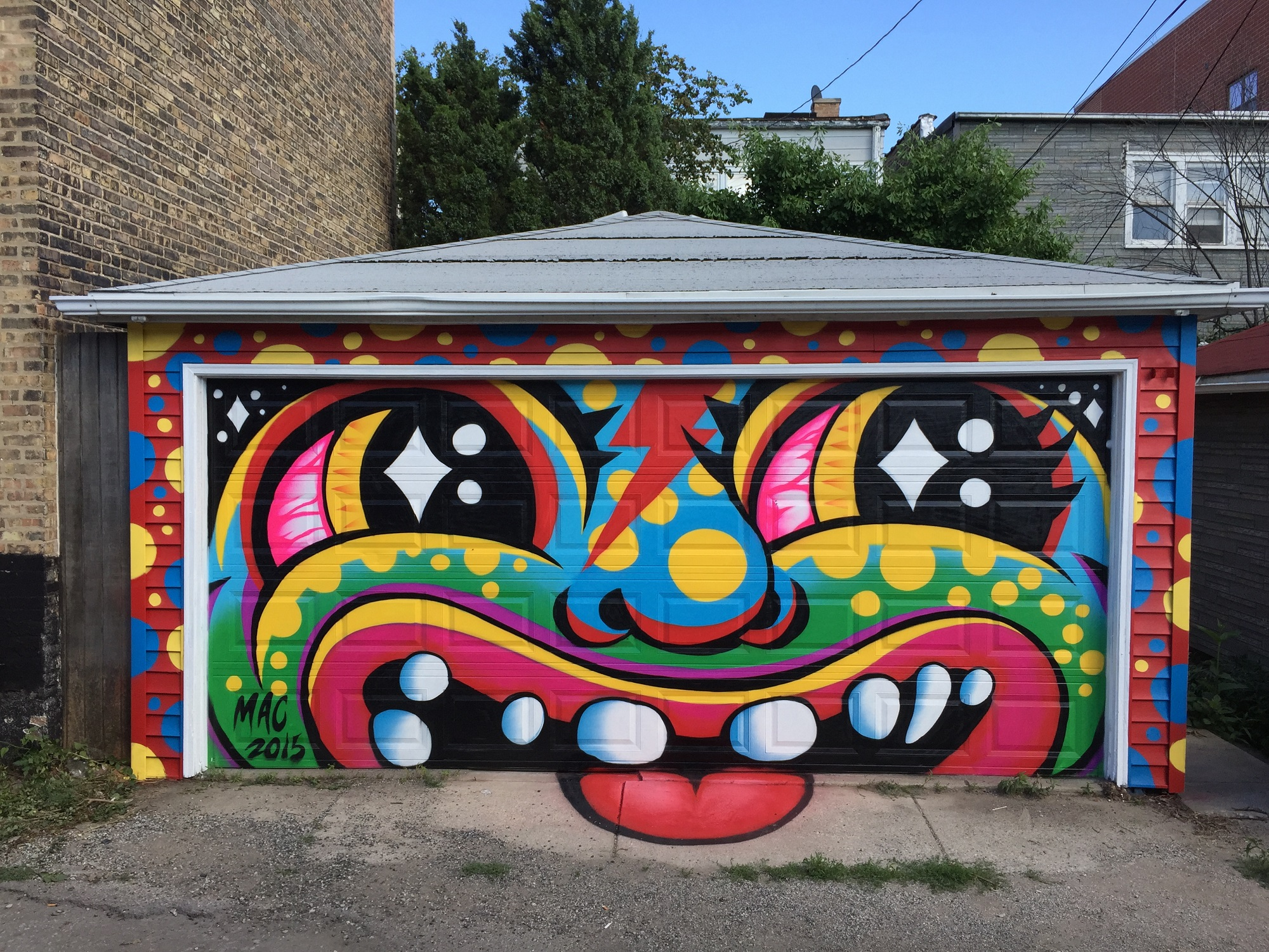 Garage mural | courtesy of Mac Blackout