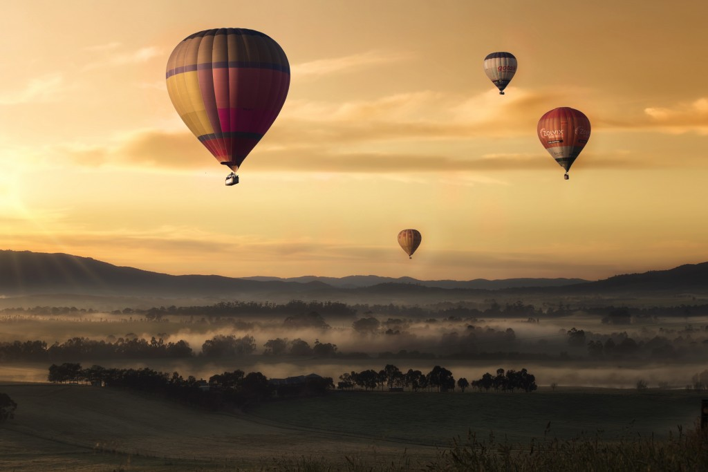 Try Hot Air Ballooning to see the beautiful countryside
