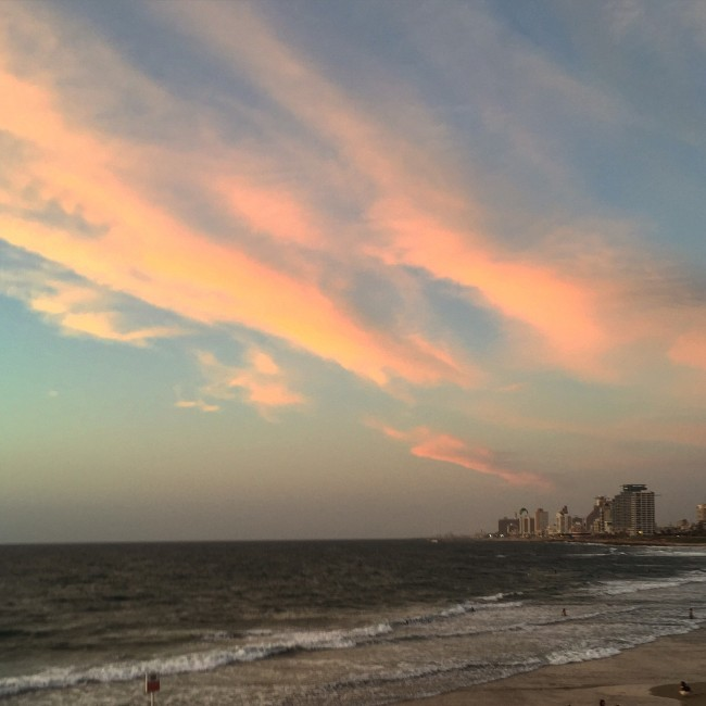 Tel Aviv Beach by Sunset