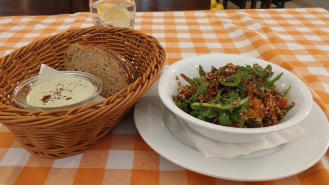 The quinoa salad | © Yehudah Jacobs