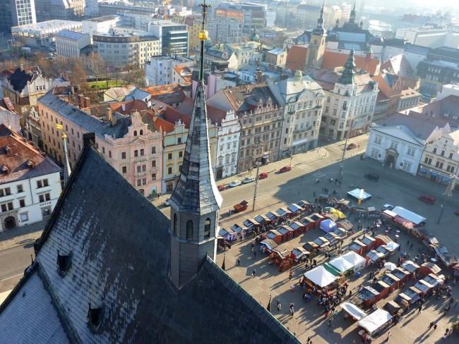 Vánoční Plzeň Katedrála sv Bartoloměje Pohled z Věže | © Michal Ritter/WikiCommons