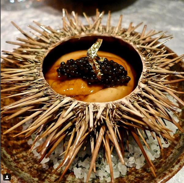 Hokkaido sea urchin from Hakkasan