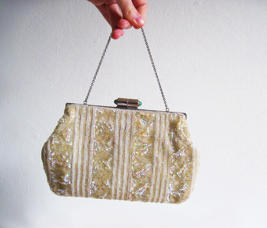 Exquisite vintage JOSEF Hand Beaded French Evening Purse | © Huzzah Vintage /Flickr