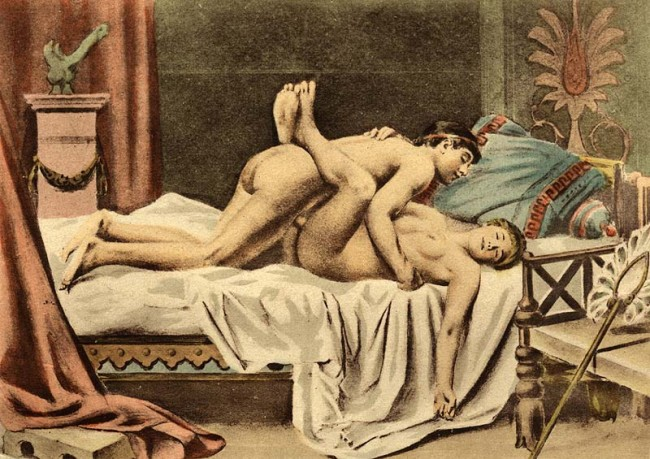 An erotic illustration by Édouard-Henri Avril | © Pyb/WikiCommons