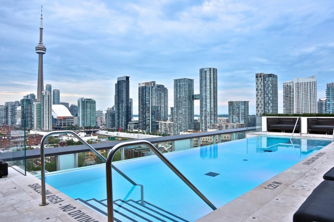 Rooftop Pool At The Thompson Toronto Courtesy Of