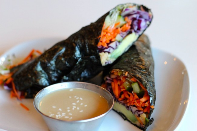 An enticing seafood roll   Courtesy of Communitea Cafe
