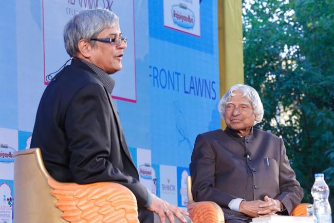Former President Late Dr APJ Abdul Kalam at JLF'15 | © ZEE Jaipur Literature Festival