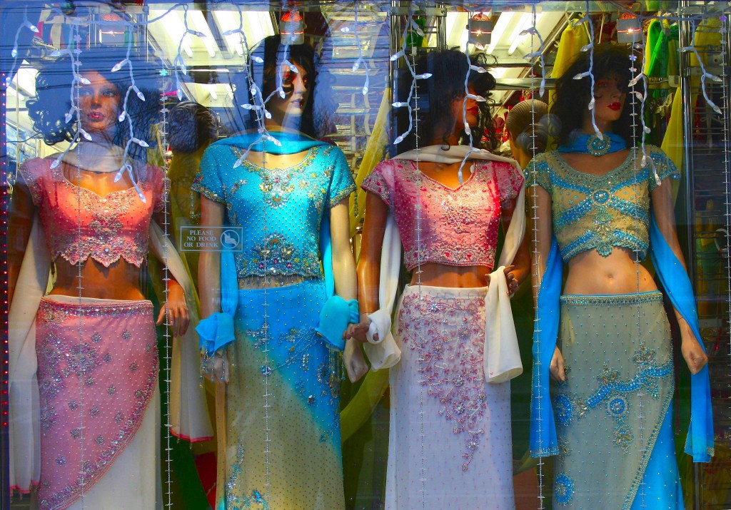 Saris in Window © Don Gunn