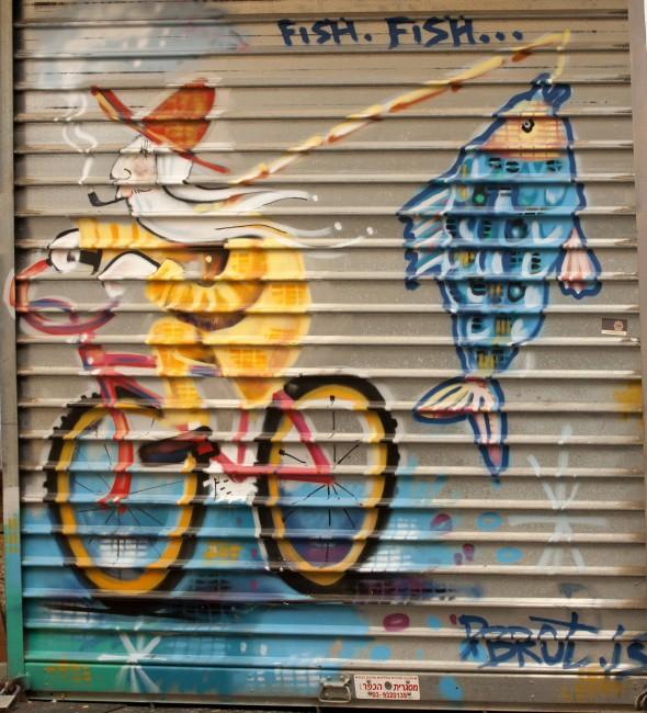Street art in the market