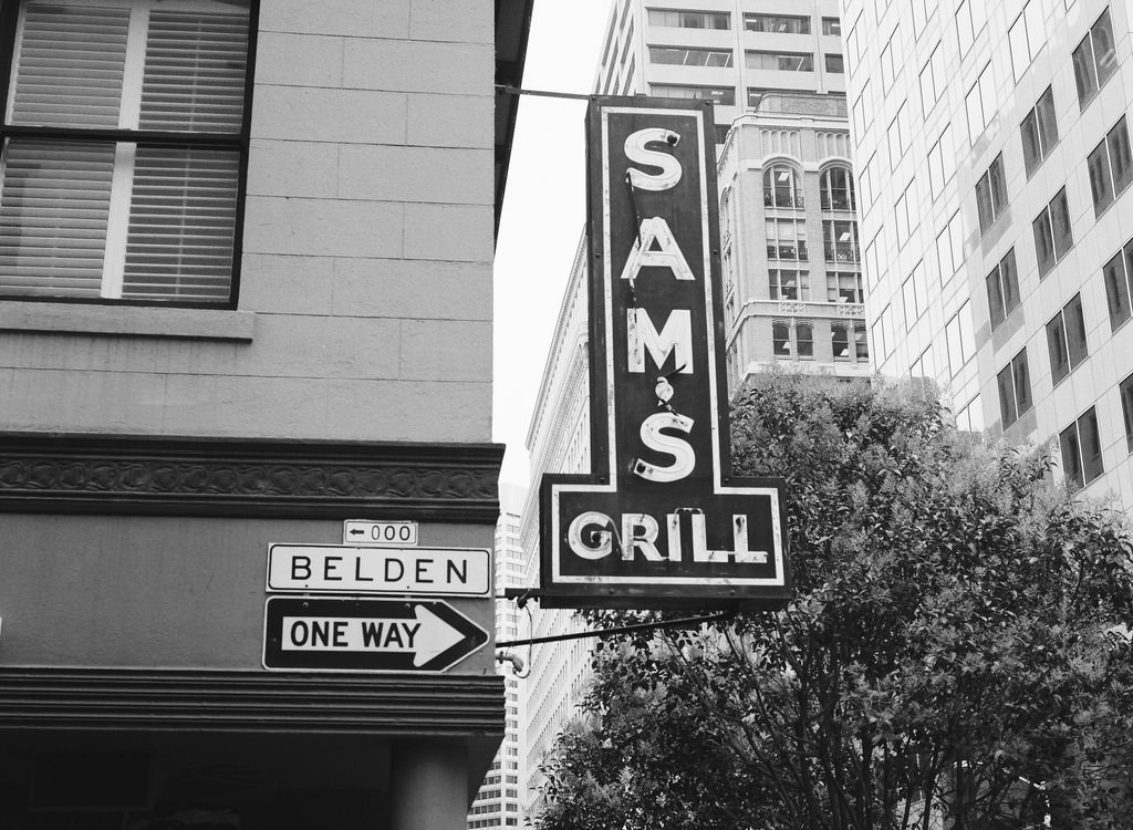 The sign outside Sam's Grill | © Phil Parker/Flickr