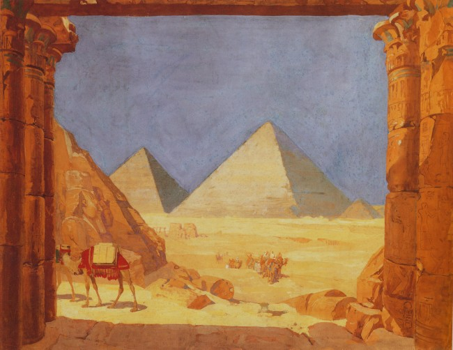 Louis C. Tiffany: Egyptian Pyramids Framed By Temple Columns | © freeparking :-|/Flickr