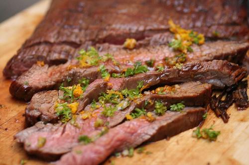 Flank Steak with Tamarind Glaze and Orange Gremolata | © thebittenword.com/Flickr