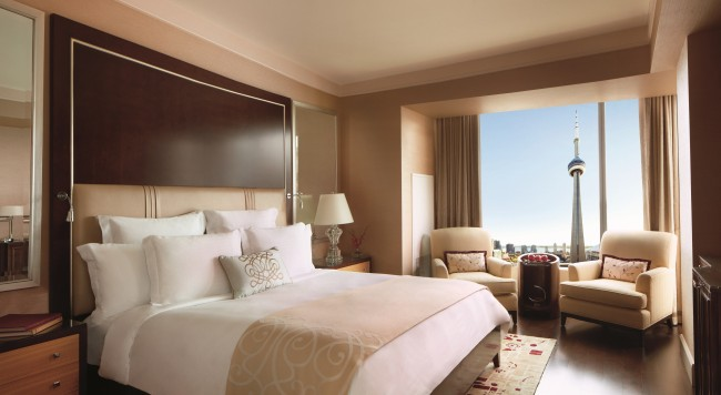 Room with a view at the Ritz | Courtesy of Ritz-Carlton Toronto
