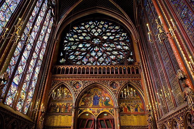 Interior Rose of Sainte Chapelle, Paris | © WikiCommons